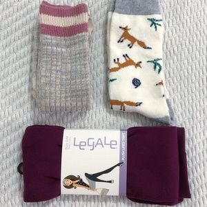 Warm Leg/Footwear! Tights, Fox & Knee Socks Bundle
